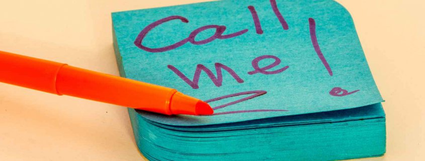 Call me - Call to Action